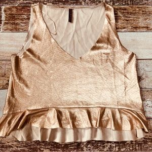 Zara Trafaluc collection rose gold faux leather